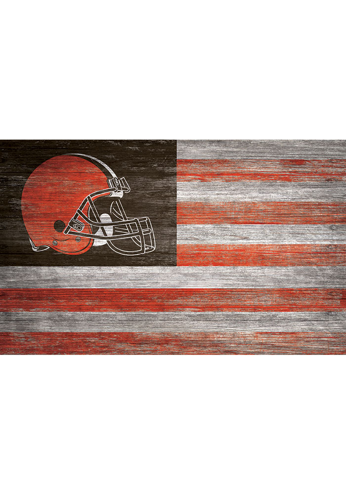 Cleveland Browns Distressed Flag 11x19 Sign - Image 1