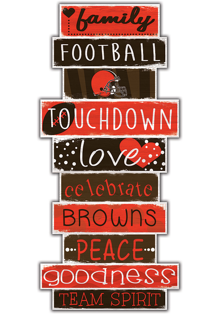Cleveland Browns Celebrations Stack 24 Inch Sign - Image 1