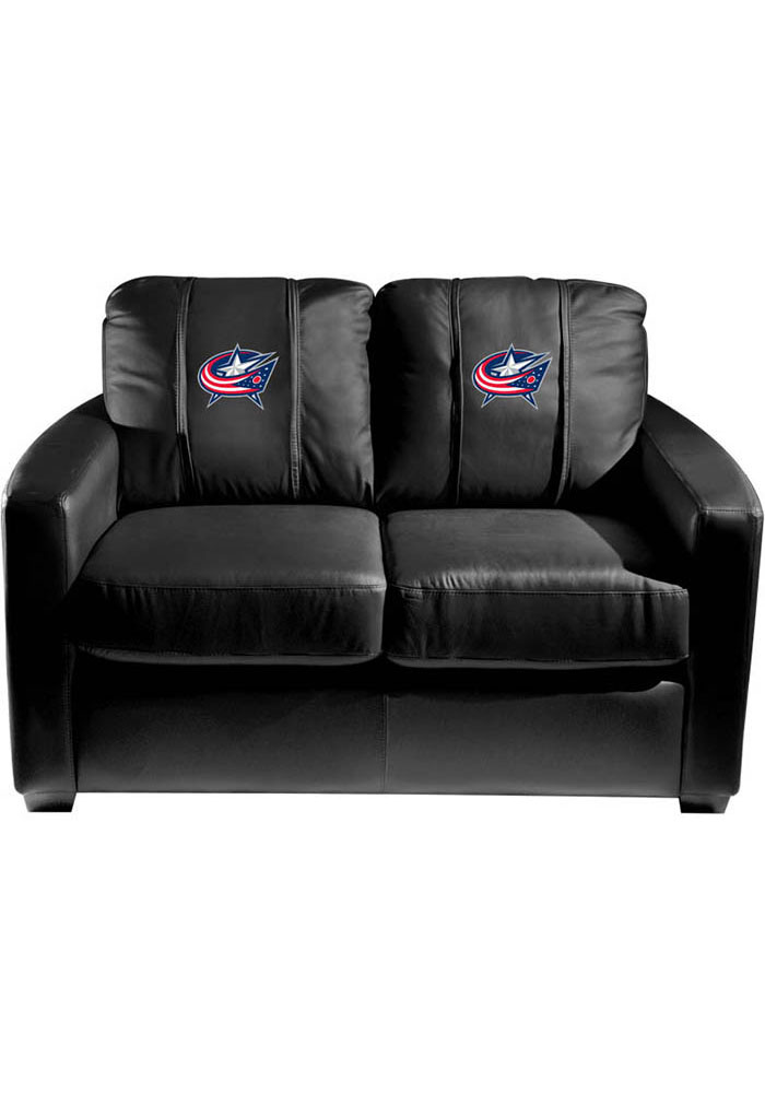 Columbus Blue Jackets Faux Leather Love Seat - Image 1