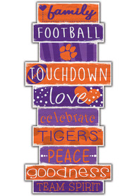 Clemson Tigers Celebrations Stack 24 Inch Sign