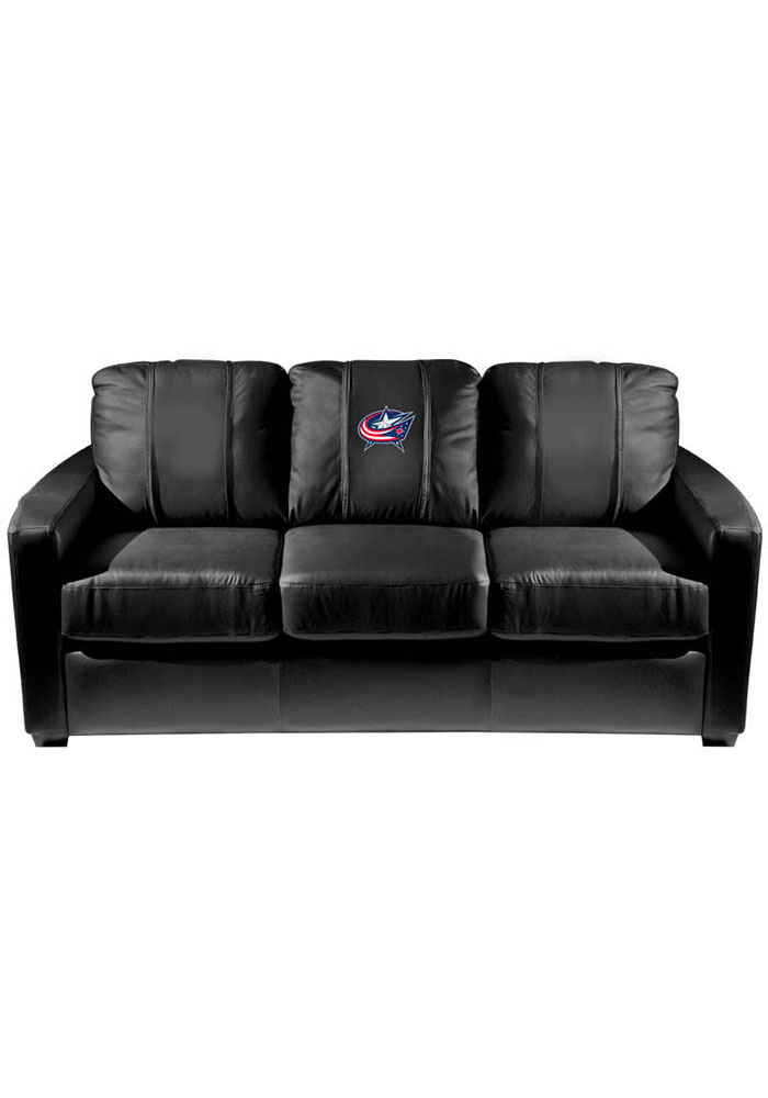 Columbus Blue Jackets Faux Leather Sofa - Image 1