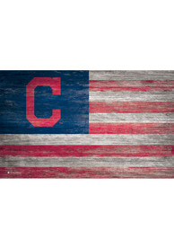 Cleveland Indians Distressed Flag 11x19 Sign