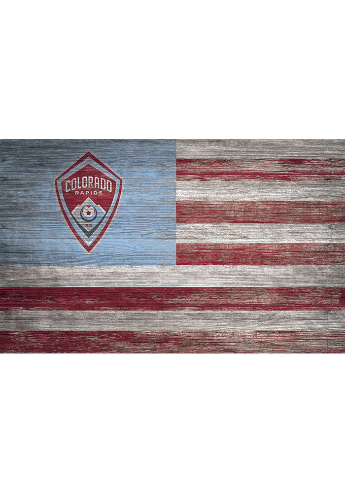 Colorado Rapids Distressed Flag 11x19 Sign - Image 1
