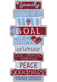 Colorado Rapids Celebrations Stack 24 Inch Sign