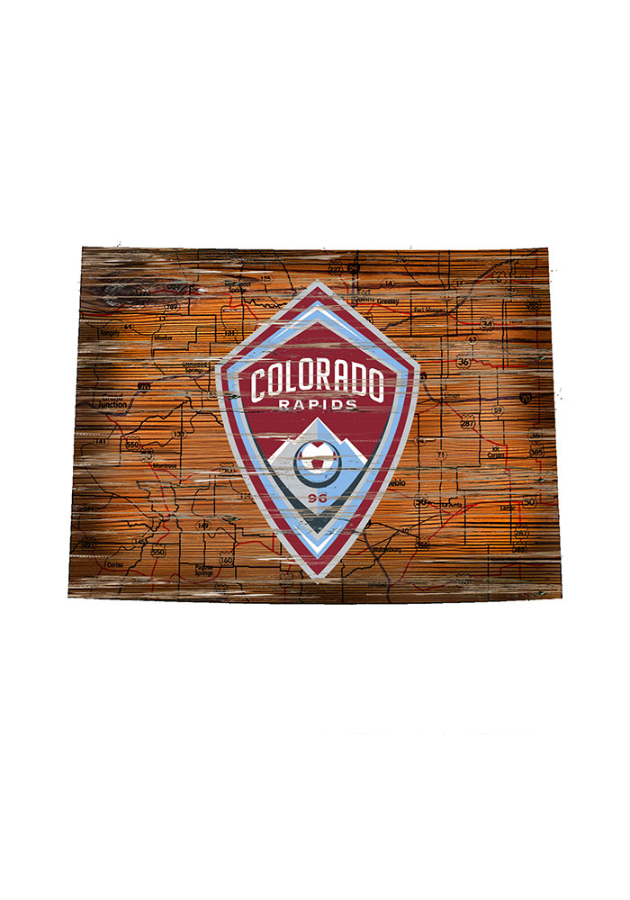 Colorado Rapids Distressed State 24 Inch Sign