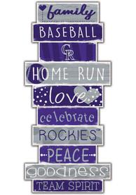 Colorado Rockies Celebrations Stack 24 Inch Sign