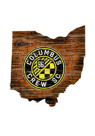Columbus Crew Distressed State 24 Inch Sign