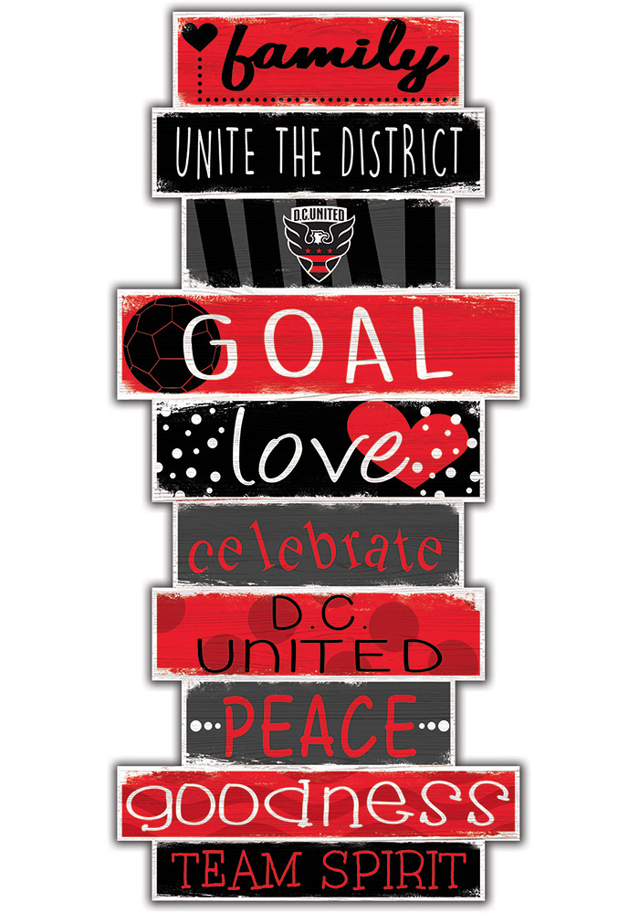 DC United Celebrations Stack 24 Inch Sign