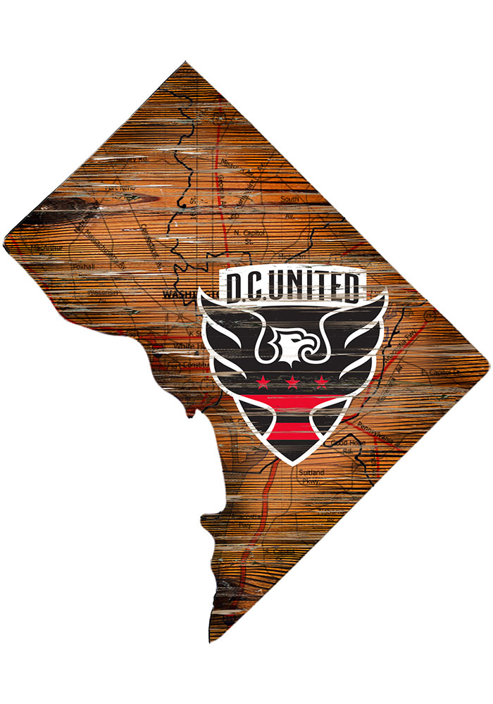 D.C. United Distressed State 24 Inch Sign - Image 1