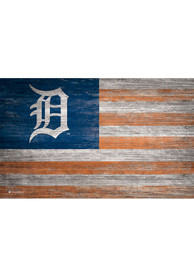 Detroit Tigers Distressed Flag 11x19 Sign