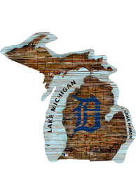 Detroit Tigers Distressed State 24 Inch Sign