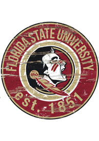 Florida State Seminoles Established Date Circle 24 Inch Sign