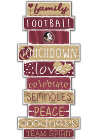 Florida State Seminoles Celebrations Stack 24 Inch Sign