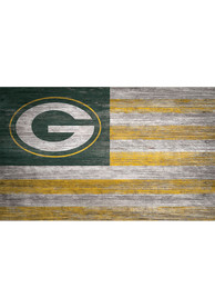 Green Bay Packers Distressed Flag 11x19 Sign