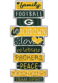 Green Bay Packers Celebrations Stack 24 Inch Sign