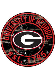 Georgia Bulldogs Established Date Circle 24 Inch Sign