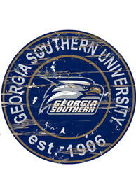 Georgia Southern Eagles Established Date Circle 24 Inch Sign