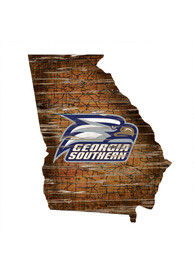 Georgia Southern Eagles Distressed State 24 Inch Sign