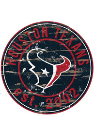 Houston Texans Established Date Circle 24 Inch Sign