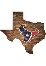 Houston Texans Distressed State 24 Inch Sign