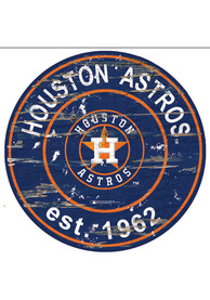 Houston Astros Established Date Circle 24 Inch Sign