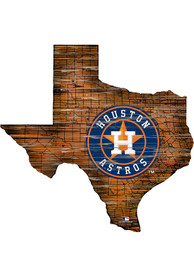 Houston Astros Distressed State 24 Inch Sign