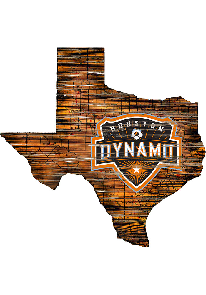 Houston Dynamo Distressed State 24 Inch Sign