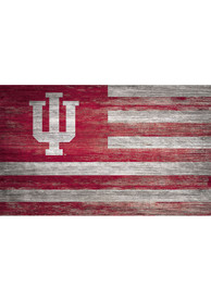 Indiana Hoosiers Distressed Flag 11x19 Sign