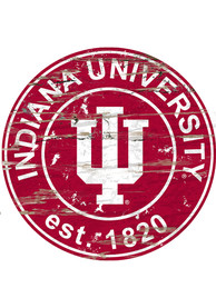 Indiana Hoosiers Established Date Circle 24 Inch Sign