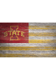 Iowa State Cyclones Distressed Flag 11x19 Sign