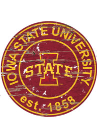Iowa State Cyclones Established Date Circle 24 Inch Sign