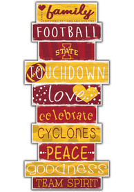 Iowa State Cyclones Celebrations Stack 24 Inch Sign