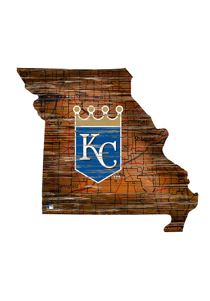 Kansas City Royals Distressed State 24 Inch Sign - Image 1