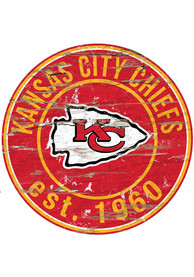 Kansas City Chiefs Established Date Circle 24 Inch Sign