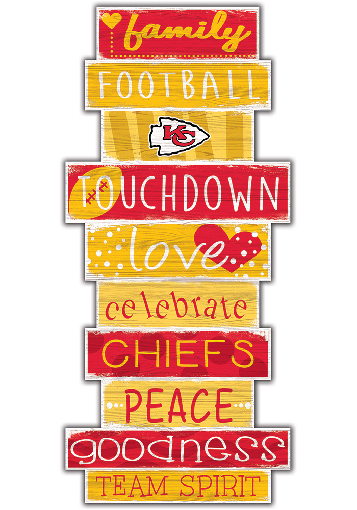 Kansas City Chiefs Celebrations Stack 24 Inch Sign - Image 1