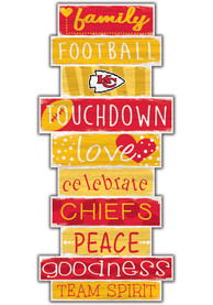 Kansas City Chiefs Celebrations Stack 24 Inch Sign