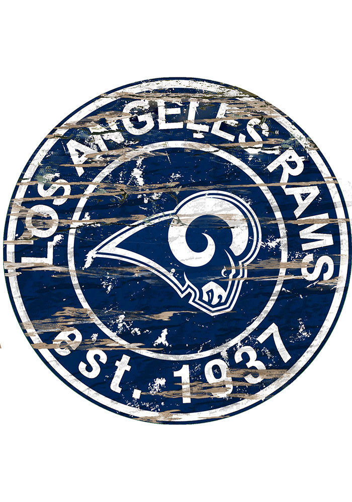 Los Angeles Rams Established Date Circle 24 Inch Sign - Image 1