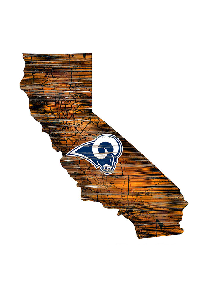 Los Angeles Rams Distressed State 24 Inch Sign - Image 1