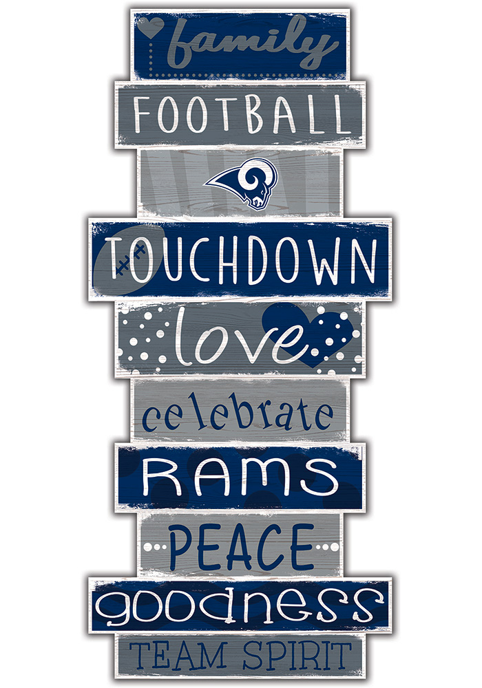 Los Angeles Rams Celebrations Stack 24 Inch Sign - Image 1