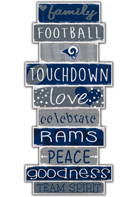Los Angeles Rams Celebrations Stack 24 Inch Sign