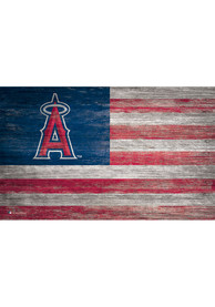 Los Angeles Angels Distressed Flag 11x19 Sign