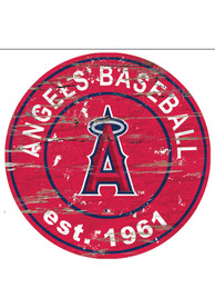 Los Angeles Angels Established Date Circle 24 Inch Sign
