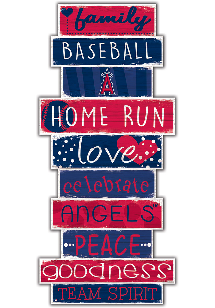 Los Angeles Angels Celebrations Stack 24 Inch Sign - Image 1