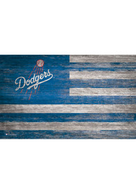 Los Angeles Dodgers Distressed Flag 11x19 Sign