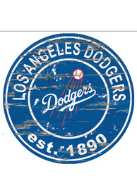 Los Angeles Dodgers Established Date Circle 24 Inch Sign