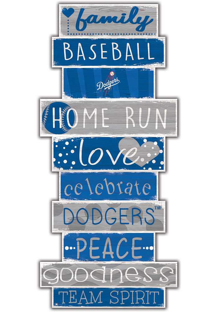 Los Angeles Dodgers Celebrations Stack 24 Inch Sign - Image 1