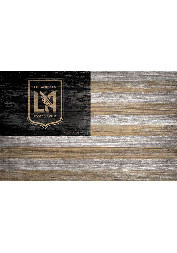 Los Angeles FC Distressed Flag 11x19 Sign