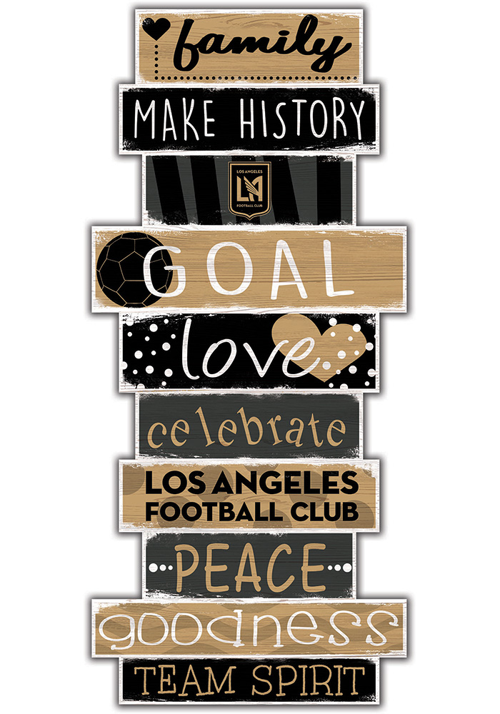Los Angeles FC Celebrations Stack 24 Inch Sign - Image 1