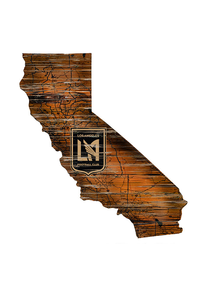Los Angeles FC Distressed State 24 Inch Sign - Image 1
