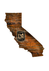 Los Angeles FC Distressed State 24 Inch Sign